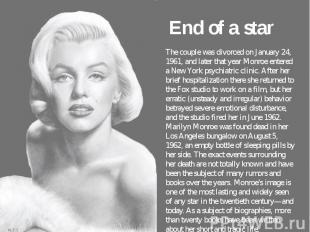End of a star