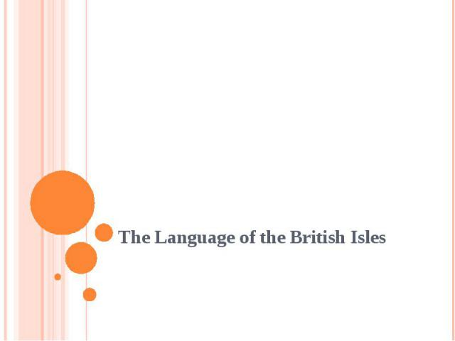 The Language of the British Isles