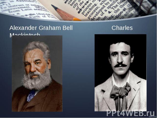 Alexander Graham Bell Charles Mackintosh Alexander Graham Bell Charles Mackintosh