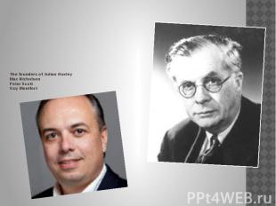 The founders of Julian Huxley Max Nicholson Peter Scott Guy Montf