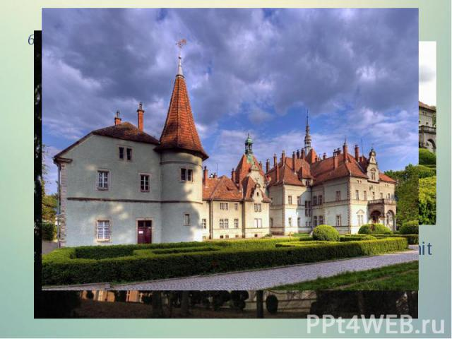 6.The castle of Count Schonborn (Carpathians) A former hunting castle of Count Schonborn, now a unit of Carpathian resort located in the mountains and has about himself ordered the park and an artificial lake.