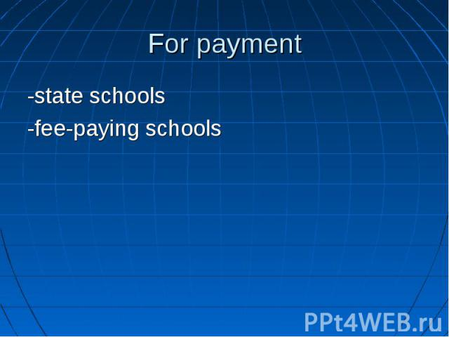 -state schools -state schools -fee-paying schools