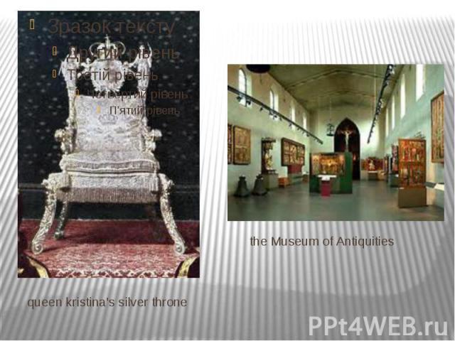 queen kristina's silver throne