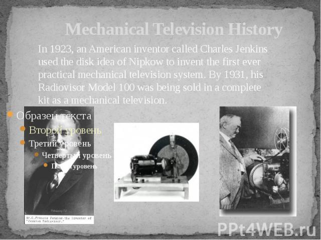 Mechanical Television History