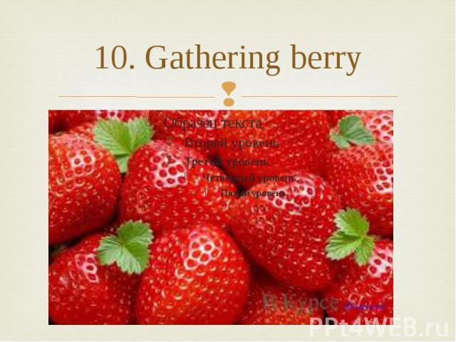 10. Gathering berry
