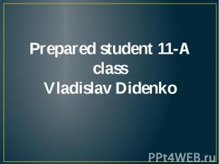 Prepared student 11-A class Vladislav Didenko