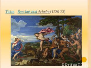 Titian-Bacchus and Ariadne(1520-23)