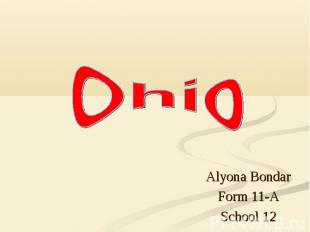 Alyona Bondar Form 11-A School 12