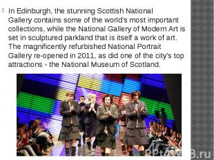 In Edinburgh, the stunning Scottish National Gallery contains some of