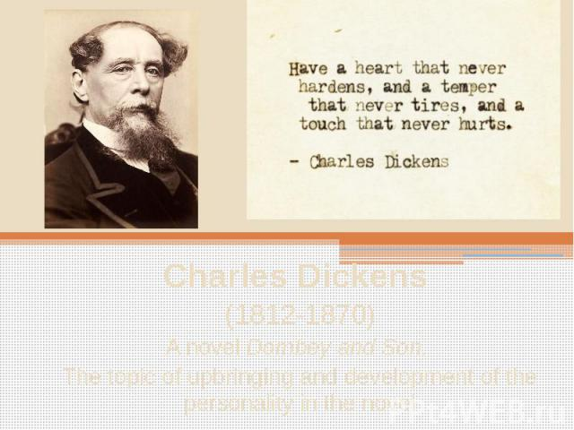 an analysis of the topic of the charles dickens tone Charles dickens booklist charles dickens message board detailed plot synopsis reviews of the old curiosity shop little nell is a 14-year-old beauty with a heart of gold raised by her kind, secretive grandfather.