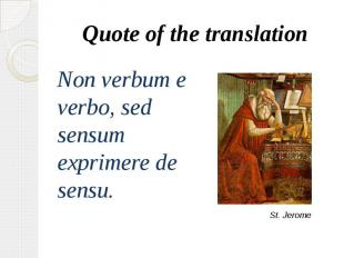 Quote of the translation