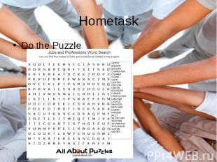 Hometask Do the Puzzle