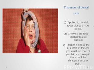 Treatment of dental pain