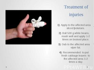 Treatment of injuries