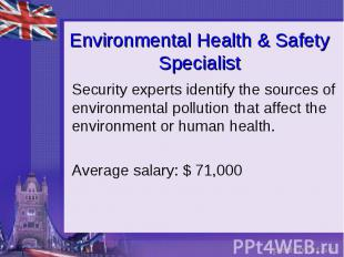 Environmental Health & Safety Specialist Security experts identify the sourc