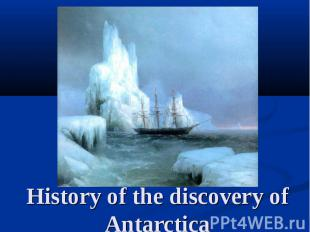 History of the discovery of Antarctica