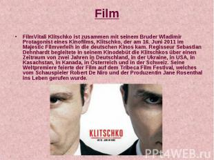 Film FilmVitali Klitschko ist zusammen mit seinem Bruder Wladimir Protagonist ei