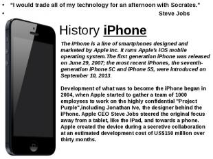 """""""I would trade all of my technology for an afternoon with Socrates."""" """"I would tr"""