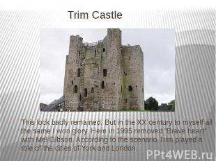 Trim Castle This lock badly remained. But in the XX century to myself all the sa