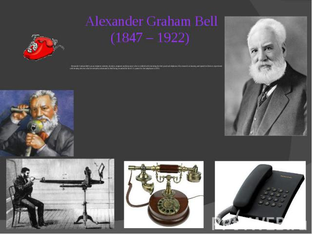 a look at alexander graham bells trials and inventions The online version of the alexander graham bell family papers at the library of congress will comprise a selection of approximately 4700 inventor, celebrity.