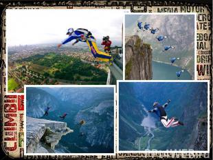 BASE jumping BASE Jumping:is very extreme activity that includes a parachute (ca
