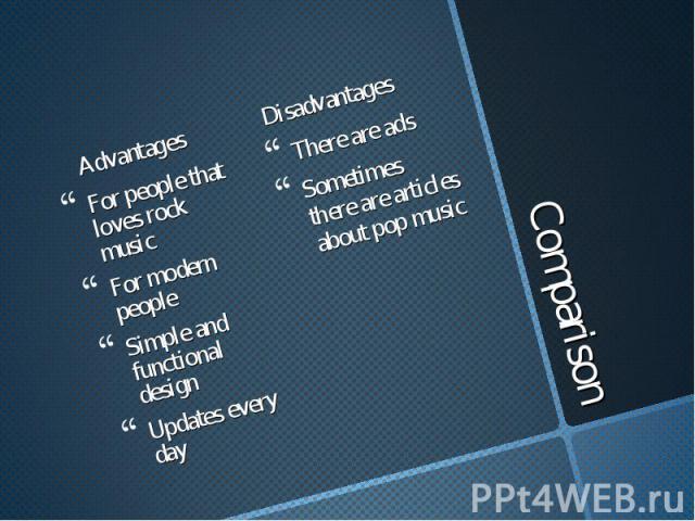 Advantages Advantages