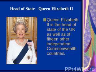 HeadofState-QueenElizabeth II Queen Elizabeth II i