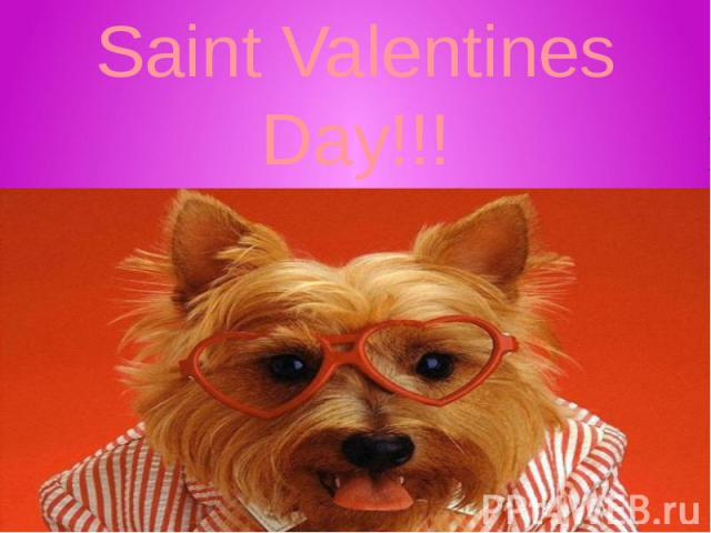 Saint Valentines Day!!!