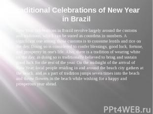 Traditional Celebrations of New Year in Brazil New Year celebrations in Brazil r