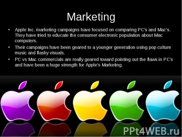 marketing and apple
