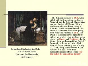 Edward and his brother the Duke of York in the Tower. Picture of Paul Delaroche,