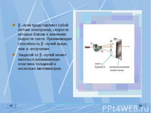 -лучи представляют собой потоки электронов, скорости которых близки к значению с