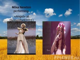 Mika Newton performing «Angel» at Dusseldorf(2011)
