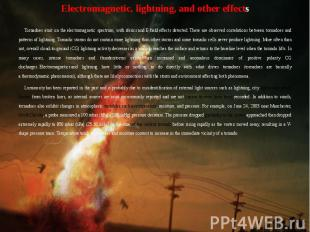 Electromagnetic, lightning, and other effects Electromagnetic, lightning, and ot