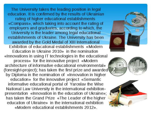 The University takes the leading position in legal education. It is confirmed by the results of Ukrainian rating of higher educational establishments «Compass», which taking into account the rating of employers and graduates, according to which, the…