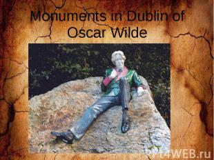 Monuments in Dublin of Oscar Wilde