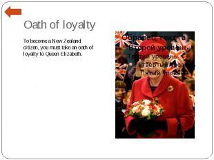 Oath of loyalty