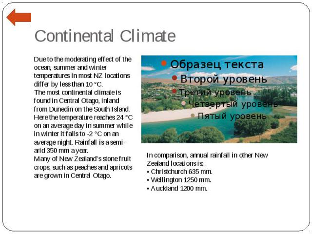 Continental Climate