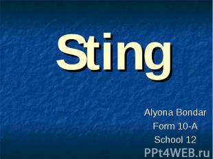Sting Alyona Bondar Form 10-A School 12