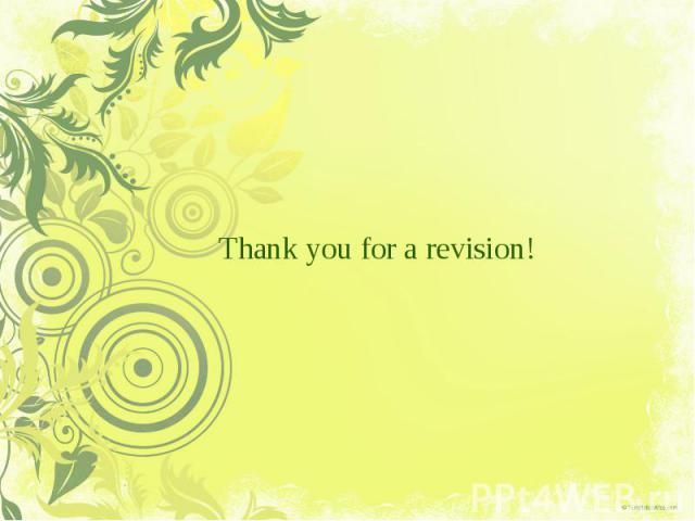 Thankyouforarevision!