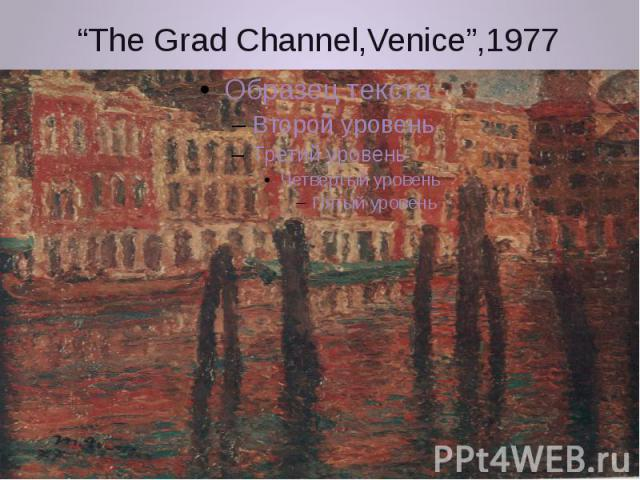 """""""The Grad Channel,Venice"""",1977"""