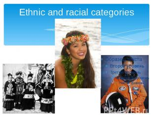 Ethnic and racial categories