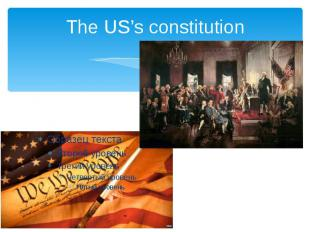 The US's constitution