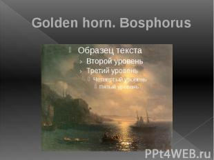 Golden horn. Bosphorus