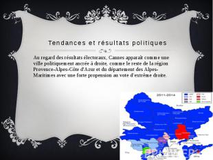 Tendances et résultats politiques Au regard des résultats électoraux, Cannes app