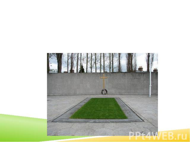 The burial spot of the Leaders of the Rising, in the old prison yard of Arbour Hill prison. The memorial was designed by G. McNicholl.