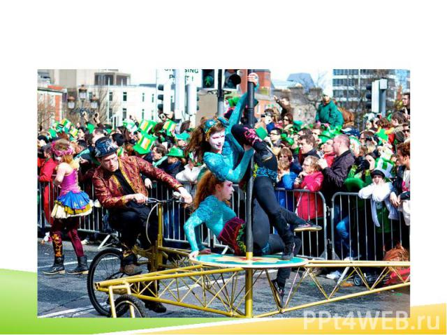 A Saint Patrick's Day parade in Dublin