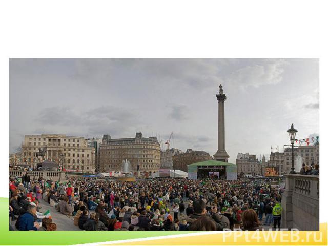 2006 St Patrick's Day celebrations in Trafalgar Square London