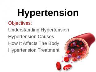 Hypertension Objectives: Understanding Hypertension Hypertension Causes How It A