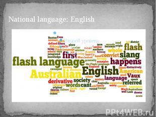 National language: English